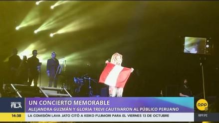 Gloria Trevi y Alejandra Guzmán alentaron a Perú para el Mundial