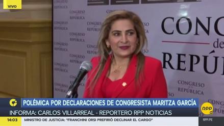 Maritza García no renunciará a la Presidencia de la Comisión de la Mujer