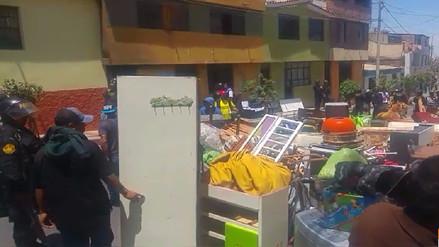 Mujer fue desalojada por sus propias nietas en Arequipa