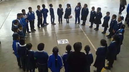 Escolares participan de simulacro de sismo en Otuzco