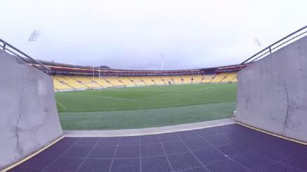 Peruano visitó el Westpac Stadium, el estadio donde jugará la 'Blanquirroja'
