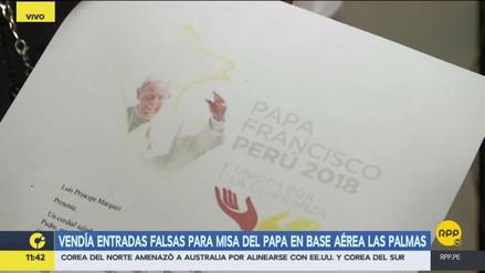 Capturan a un hombre que vendía entradas falsas para la misa del papa