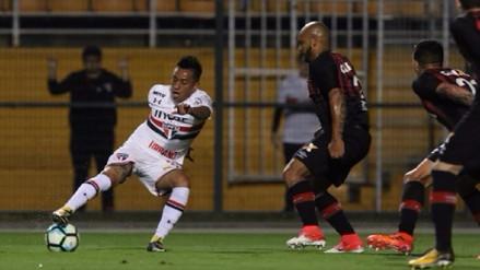 Christian Cueva se lució con dos asistencias en triunfo de Sao Paulo