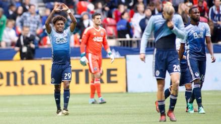 Yordy Reyna anotó con el Vancouver Whitecaps en la MLS