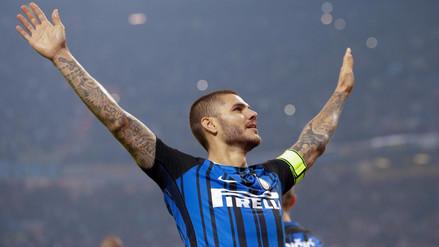 Un triplete de Mauro Icardi lanza al Inter en el derbi y hunde al Milan