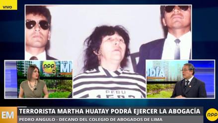 Martha Huatay puede volver a ejercer como abogada a su salida del penal