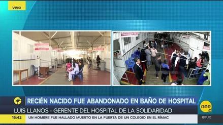 Un recién nacido fue abandonado en un baño del Hospital de la Solidaridad