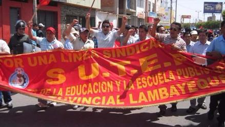 Maestros del Sutep Lambayeque iniciaron huelga de hambre