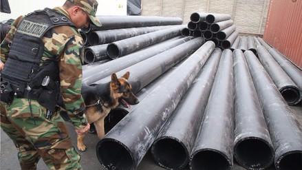 La Policía incautó 1,300 kilos de cocaína camuflada en tubos