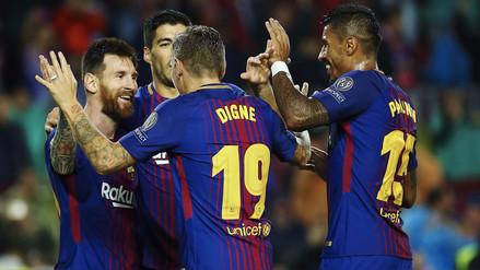 Barcelona venció 3-1 al Olympiakos y mantiene el invicto en su grupo