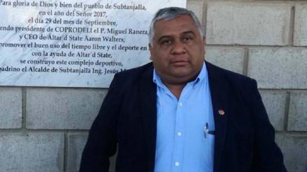 Retiran del cargo al alcalde del distrito de Subtanjalla