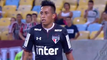 Christian Cueva salió cambiado en la caída de Sao Paulo ante Fluminense