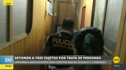 Detienen a tres personas por trata de personas en el Callao y Chosica