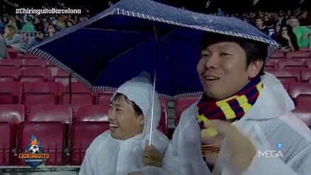 Hinchas asiáticos del Barcelona celebraron hasta la expulsión de Piqué