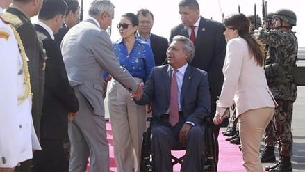 Presidente de Ecuador arribó a Trujillo