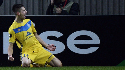 BATE venció 1-0 al Colonia en la Europa League con gol de Alexei Ríos