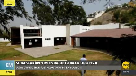 La mansión que ocupaba Gerald Oropeza será subastada el 27 de octubre