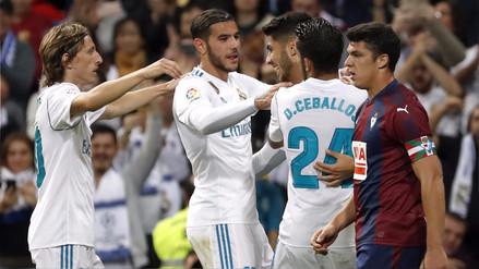 Real Madrid ganó sin problemas al Eibar y acorta distancias con el Barcelona