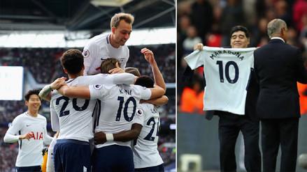 Con Maradona en la tribuna, Tottenham apabulló 4-1 al Liverpool
