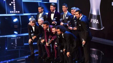 Con Cristiano, Messi y Neymar: el 11 ideal ganador del premio The Best