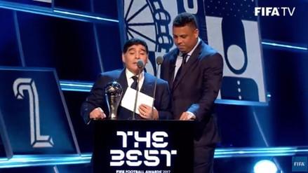 Diego Maradona y Ronaldo se robaron el show en los Premios The Best