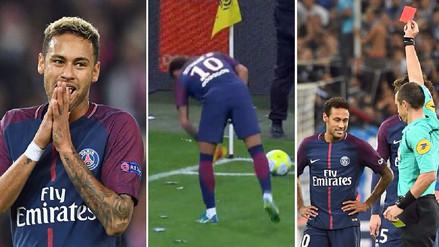 Neymar tras su expulsión: