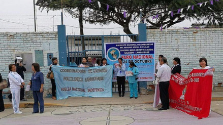 Trabajadores del policlínico Agustín Gavidia de Lambayeque acatan paro