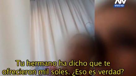 Empadronadora reafirmó que le ofrecieron dinero para que no denuncie violación sexual