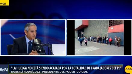 """Rodríguez a trabajadores judiciales en huelga: """"Si no se trabaja, no se paga"""""""