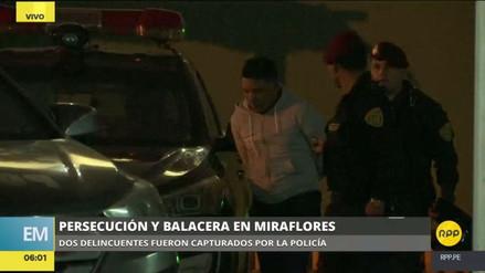 Capturan a dos raqueteros tras una persecución y balacera en Miraflores