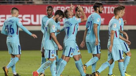 Barcelona inició la defensa de la Copa del Rey goleando a Murcia
