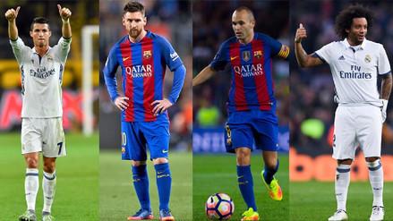 Los 11 jugadores con más apariciones en el equipo ideal de la FIFA