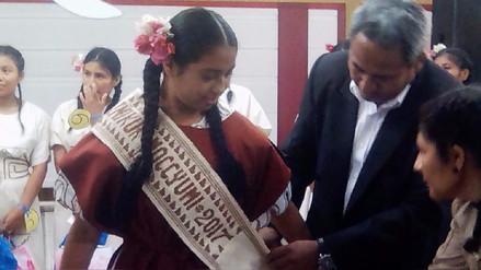 Joven doncella muchik presidirá actos por los 193 años de Mochumí