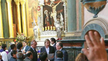 Ricardo Gareca visitó al Señor de los Milagros en Las Nazarenas