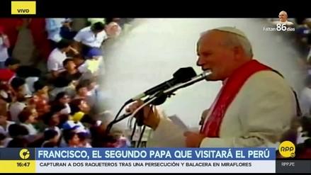 Juan Pablo II, el primer papa que visitó el Perú