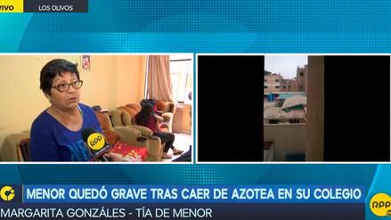 Un niño quedó grave tras caer de azotea en su colegio en Los Olivos