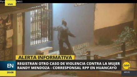 Cámara de vigilancia captó un nuevo caso de agresión contra una mujer en Huancayo