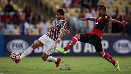 Flamengo con Miguel Trauco venció 1-0 a Fluminense por la Sudamericana
