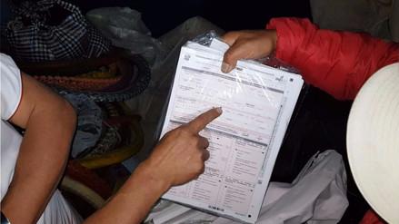 Huancayo: un docente fue intervenido por tener cédulas del censo