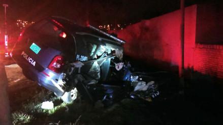 Dos policías heridos dejó choque de patrullero contra un tráiler en Chancay