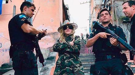 Facebook: Madonna genera polémica por foto en favela de Río de Janeiro