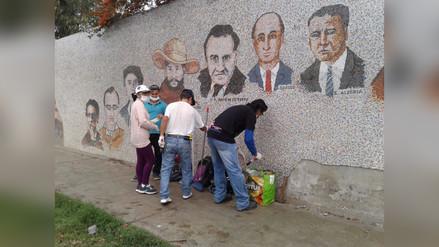 Restauran mural artístico de UNT afectado por Niño costero