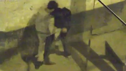 Mujer es golpeada y arrastrada por su hijo en Huaraz