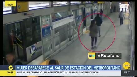 Una joven desapareció tras salir de una estación del Metropolitano