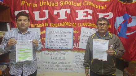 Profesores del Sutep Lambayeque cumplen su décimo día de huelga de hambre