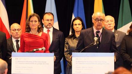 Grupo de Lima pide a la ONU implicarse en la crisis de Venezuela