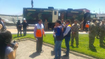 Realizan simulacro de sismo de 8 grados en distrito de Tiabaya