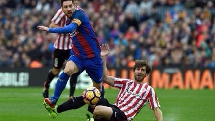 Barcelona ganó al Athletic Club con goles de Lionel Messi y Paulinho