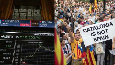 Bolsa española cae 1.45% tras declaración de independencia en Cataluña