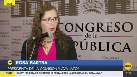"""Rosa Bartra: """"Lava Jato no se ha constituido para perseguir a nadie, menos al presidente"""""""